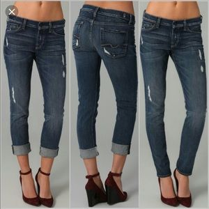 7 for all mankind- Josefina Skinny Boyfriend Jeans
